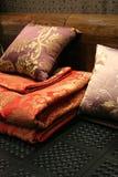 интерьеры кровати домашние linen Стоковое Изображение