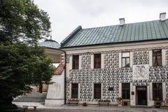 Интерьеры маленького города и outdoors в Польше Стоковые Изображения RF