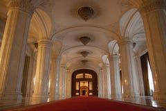 Интерьеры парламента Бухареста Стоковые Фото