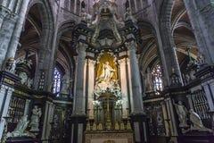 Интерьеры собора Bavon Святого, Гента, Бельгии Стоковое Изображение RF