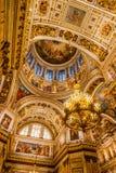 Интерьеры собора St Исаак Стоковое Изображение