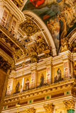 Интерьеры собора St Исаак стоковая фотография