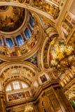 Интерьеры собора St Исаак стоковое фото rf