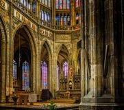 Интерьеры собора Vitus Святого стоковая фотография