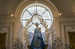 Интерьеры церков Walburga Святого, Брюгге, Belgique, Стоковое фото RF