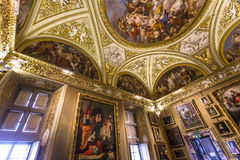Интерьеры Palazzo Pitti, Флоренса, Италии Стоковое Изображение RF