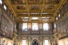 Интерьеры Palazzo Vecchio, Флоренса, Италии Стоковая Фотография RF