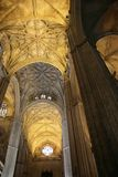 интерьеры sevilla собора готские Стоковое Изображение