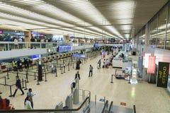 Интерьер авиапорта в Женеве Стоковые Изображения