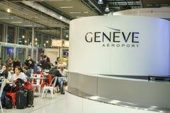 Интерьер авиапорта Женевы Стоковые Изображения