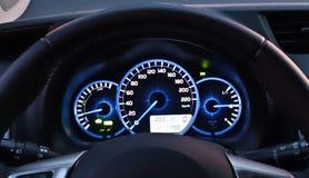 Интерьер автомобиля на ноче стоковая фотография rf