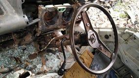 Интерьер автомобиля сломанного forgotton Стоковое Изображение RF