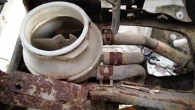 Интерьер автомобиля сломанного forgotton стоковые фотографии rf