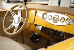 интерьер античного автомобиля Стоковое фото RF