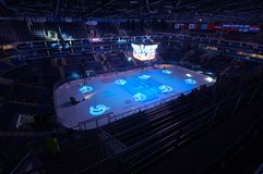 Интерьер арены льда VTB Стоковые Изображения