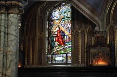 Интерьер базилики собора Нотр-Дам строя от городской Оттавы в Канаде Стоковое Изображение