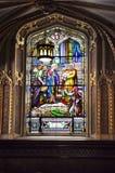 Интерьер базилики собора Нотр-Дам строя от городской Оттавы в Канаде Стоковые Изображения RF