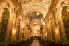 Интерьер базилики Nuestra Senora de Merced в столице Cordoba, Аргентине Стоковое Фото