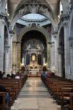 Интерьер базилики Santa Maria del Popolo Италия rome Стоковые Изображения RF