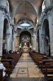 Интерьер базилики Santa Maria del Popolo Италия rome Стоковые Фотографии RF