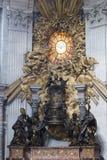 Интерьер базилики St Peter s, Ватикана, Рима Стоковое Изображение RF