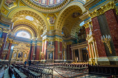 Интерьер базилики St Stephen церков в Будапеште Стоковое фото RF