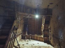 Интерьер башни Asinelli в болонья Стоковое Изображение RF