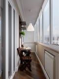 Интерьер балкона Стоковые Изображения RF