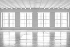 Интерьер белой комнаты, модель-макет просторной квартиры открытого пространства Стоковые Фотографии RF