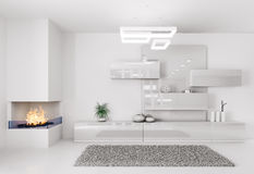 Интерьер белой комнаты Стоковое фото RF