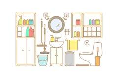Интерьер ванной комнаты вектора Стоковые Фотографии RF