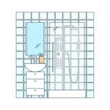 Интерьер ванной комнаты вектора Стоковое Фото