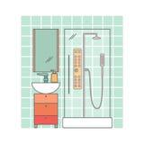 Интерьер ванной комнаты вектора Стоковое Изображение