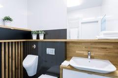 Интерьер ванной комнаты в квартире Стоковые Изображения RF