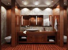 интерьер ванной комнаты Бесплатная Иллюстрация