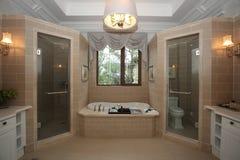Интерьер ванной комнаты стоковое изображение