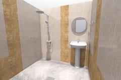 интерьер ванной комнаты 3D представляет в Армении Стоковые Изображения