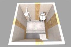 интерьер ванной комнаты 3D представляет в Армении Стоковое Фото