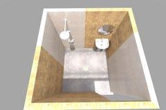 интерьер ванной комнаты 3D представляет в Армении Стоковое фото RF