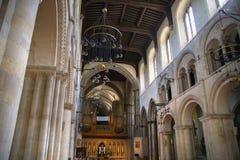 Интерьер двенадцатого века замка Rochester Замок и руины городищ Кент, юговосточная Англия Стоковые Изображения RF