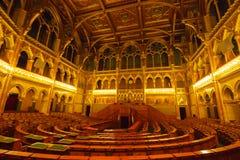 Интерьер венгерского здания парламента, Будапешт, Венгрия Место национального собрания Венгрии Стоковое Изображение