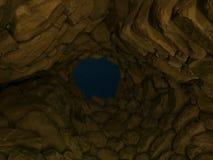 Интерьер взгляда ночи Ла Prisgiona nuraghe стоковое изображение