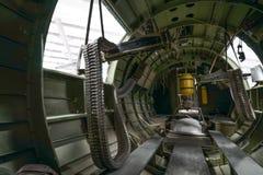 Интерьер воздушных судн бомбардировщика Вторая мировой войны Стоковая Фотография