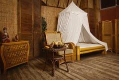 Интерьер восточной спальни стиля Стоковые Изображения