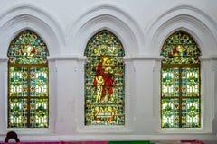 Интерьер всей церков Святого в форте Галле стоковое фото rf