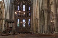 Интерьер в протестантской церкви geneva Стоковое Изображение RF