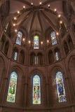 Интерьер в протестантской церкви geneva Стоковое фото RF