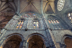Интерьер в соборе Авила Стоковое Фото