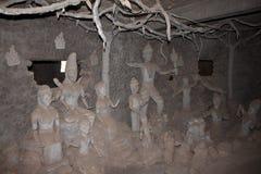 Интерьер гигантской конкретной скульптуры стоковые изображения rf