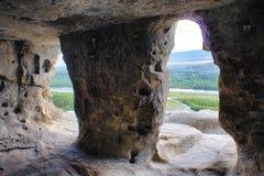 Интерьер городка пещеры стоковые изображения rf